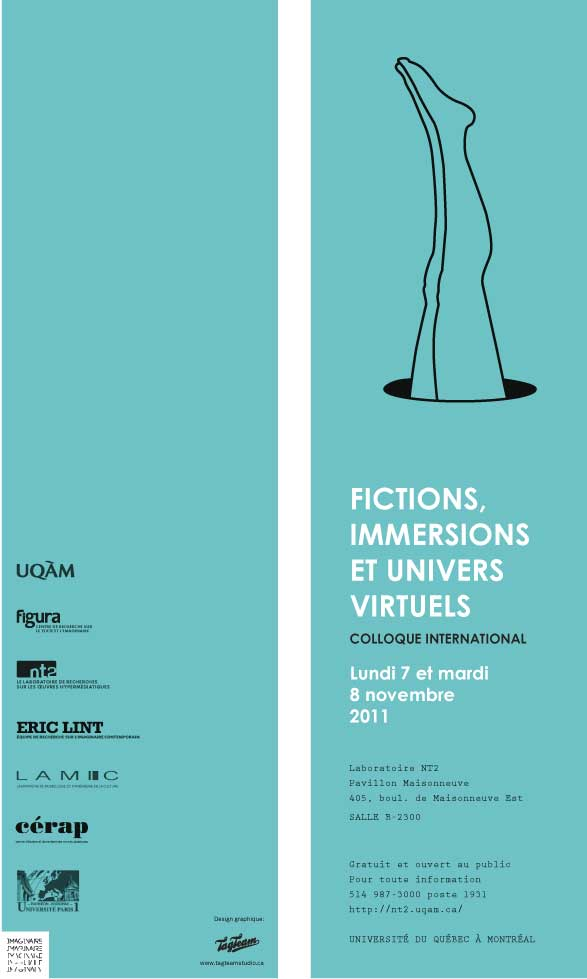 Colloque «Fictions, immersions & univers virtuels»